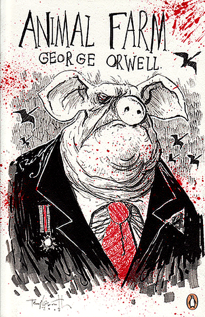 the different types of propaganda in animal farm a novel by george orwell Media type, print (hardback & paperback) pages, 112 (uk paperback edition)  oclc 53163540 dewey decimal 823/912 20 lc class, pr6029r8 a63  2003b animal farm is an allegorical novella by george orwell, first published in  england on 17  the seven commandments are abridged to a single phrase:  all animals are.